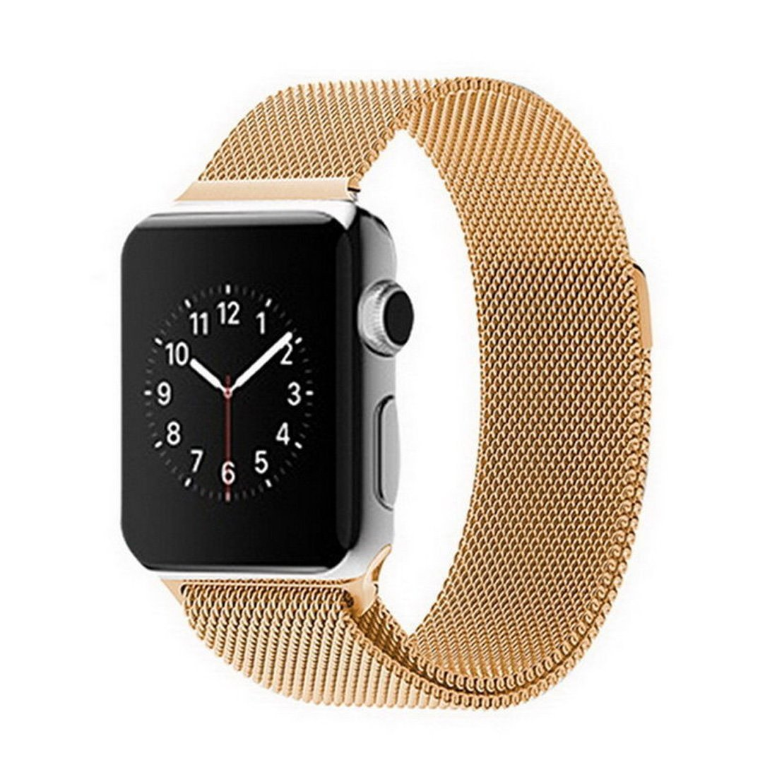 Apple Watch Band, iWatch Band, AsiaFly® Apple Watch Band, Milanese Loop Stainless Steel Bracelet Strap Magnetic Closure for Apple Watch iWatch Sport Edition Gold 38mm
