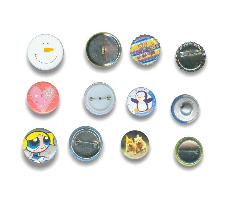 Cheap personalized round button badge pin,magnetic button badge for promotional