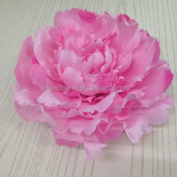 22cm Large Silk Flower Artificial Pink Peony Head For Wedding Decoration Whole Flowers