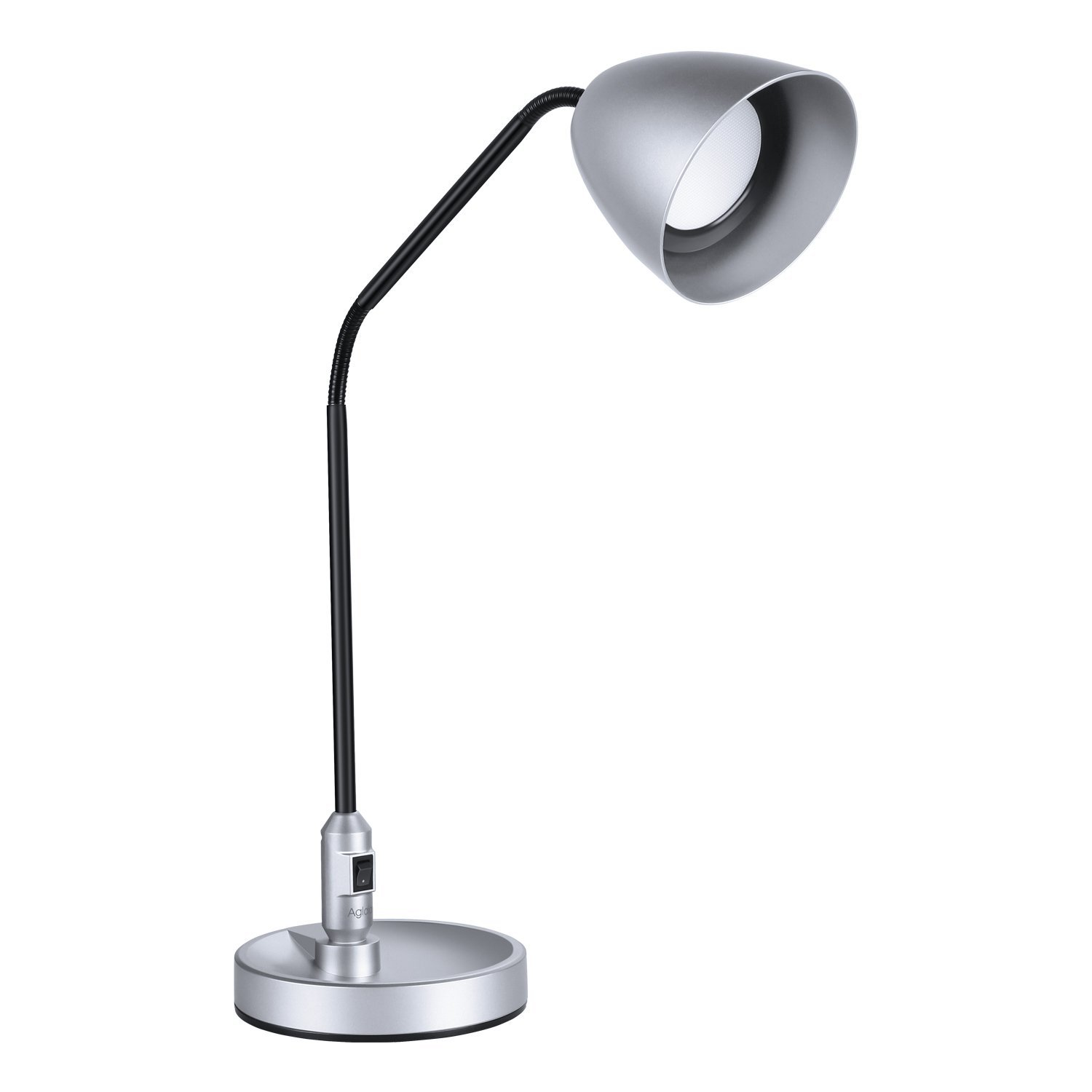 Roll over image to zoom in LED Desk Lamp, Aglaia, 2 in 1 Adjustable Table lamp, Clamp Lamp, 7W, SMD-LED with Flexible Neck, Metal Base for Studio, Office
