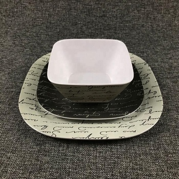 Melamine plates set dinner manufacture fda