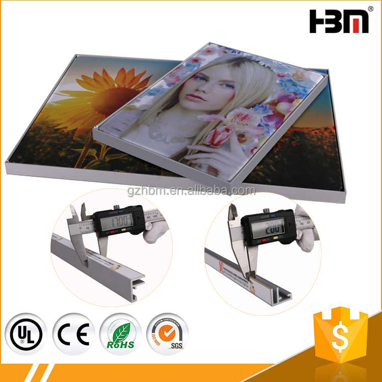 non-lit tension fabric frame 17mm deep graphic poster aluminum SEG frame