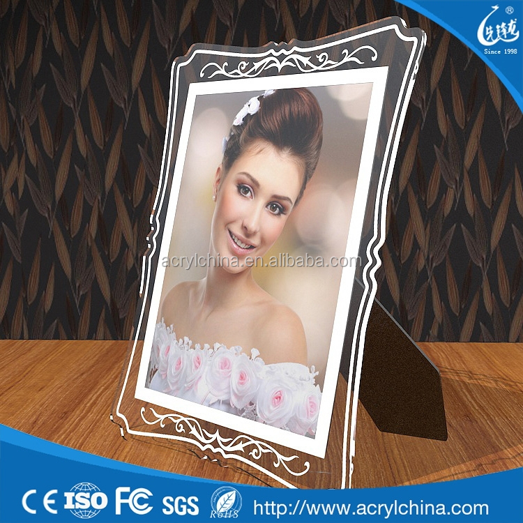 Special moment white acrylic wedding picture frames as souvenir for distributor