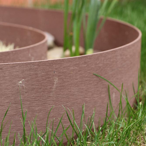 75mm Width Wpc Wood Plastic Composite Easily Embled Garden Rolled Lawn Edging