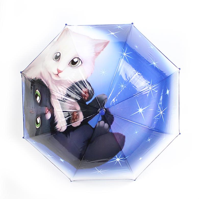Wholesale cute cartoon dinosaur print poe clear transparent cartoon umbrella for kids