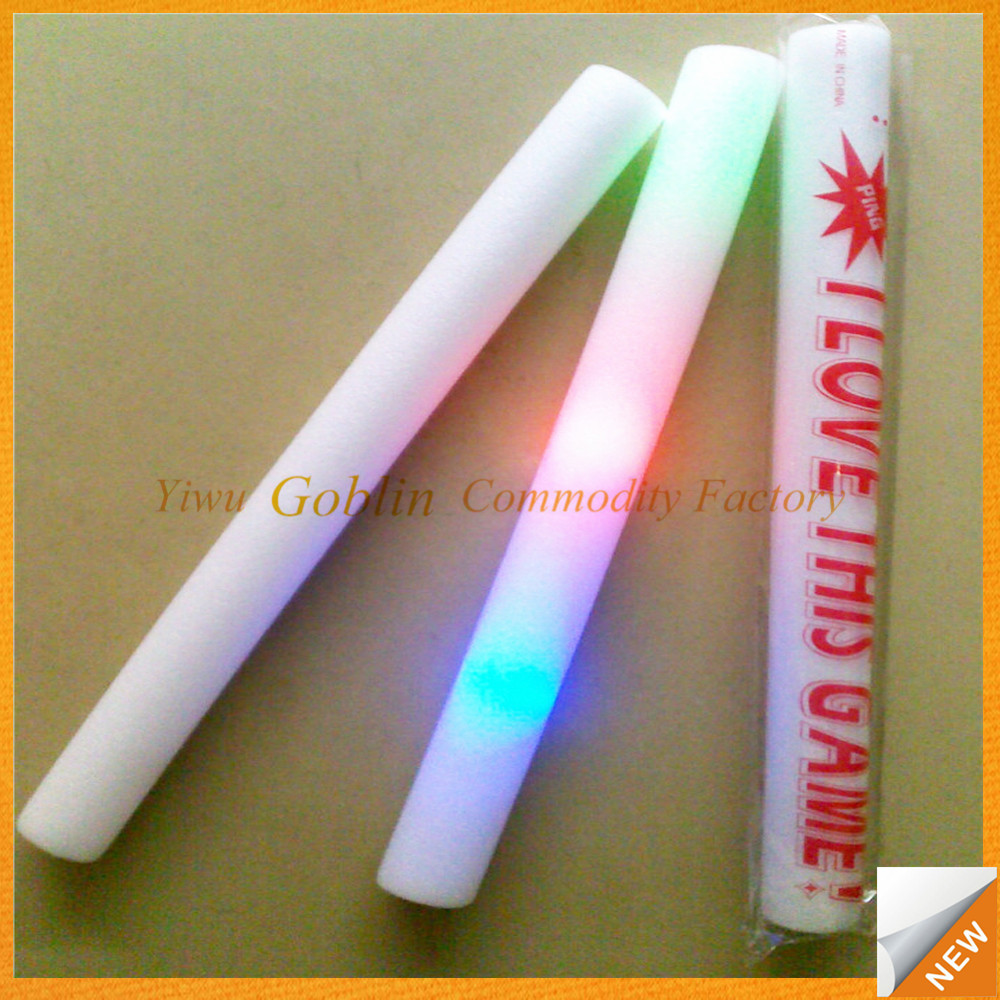 GBIY-362 Aufblasbare jubel-sticks/konzert licht stick/light up foam sticks für förderung