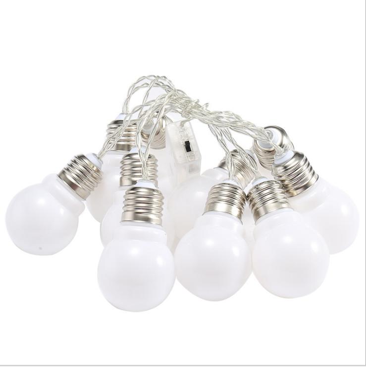 10m 5m Low Voltage Belt light G50 RGB Multicolor Unbreakable Globe Ball Bulb LED Chain Festoon String Light