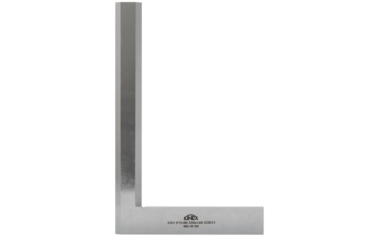 """Kinex 4001-03-063 Machinist Knife Edge Solid Inspection Square 2-1/2"""" x 1-5/8"""" x .225"""" Thick (63 mm x 40 mm) DIN 875/00 (Square w/in 3 microns or 0.0001"""")"""