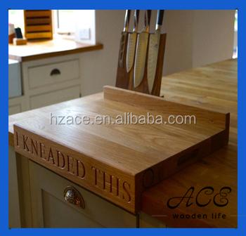 Wooden Lipped Edge Chopping Board Oak