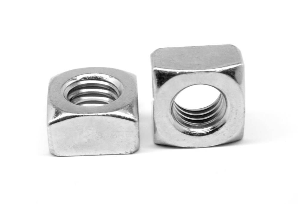 1//4-20 Low Carbon Steel Plain Finish Square Nut Heavy 50 pk.