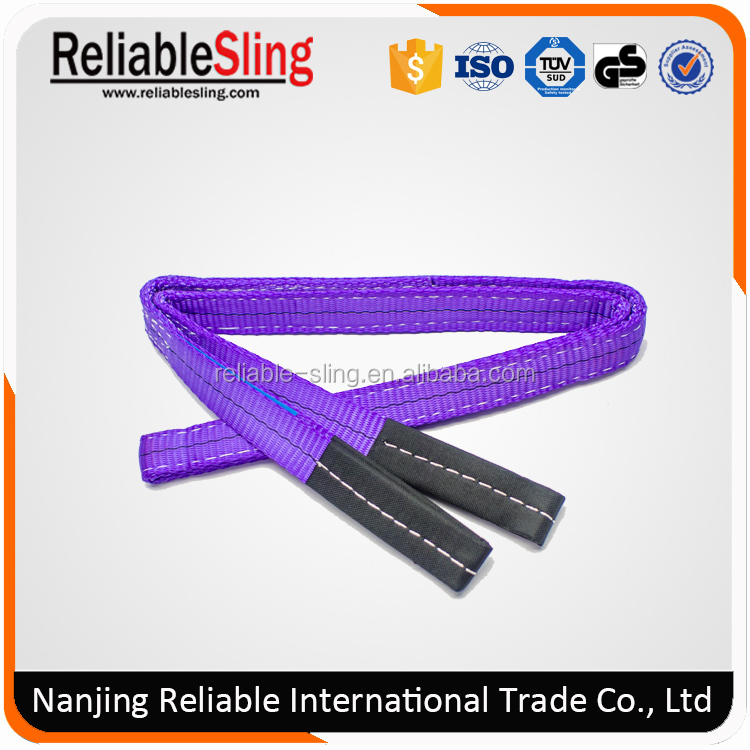 polyester lifting sling with safety factor 5:1 6:1 7:1 8:1