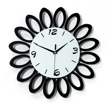 Flower Design Black White Wood Craft Wall Decorations Glass Mdf Wall