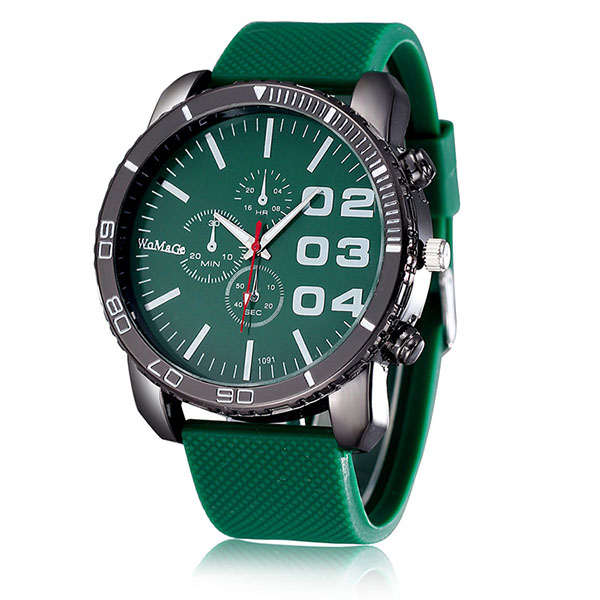 Most popular <strong>men</strong> military big head hard silicone strap womage brand quartz watch womens fashion