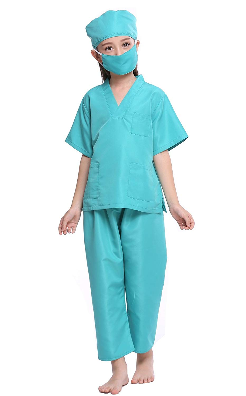 YOLSUN Kids Doctor Costume Play Set lab Coat Dress Up