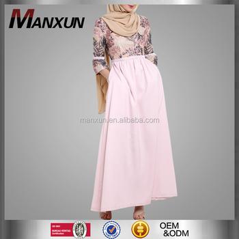 Islamic Clothing Abaya Fashion Puff Sleeves Lace Wedding Long Dress For  Muslim Women