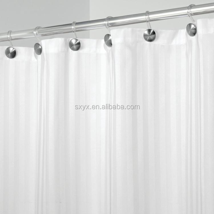 Mikrofaser Satin Streifen Stoff Duschvorhang Liner Wasserdicht Hotel ...