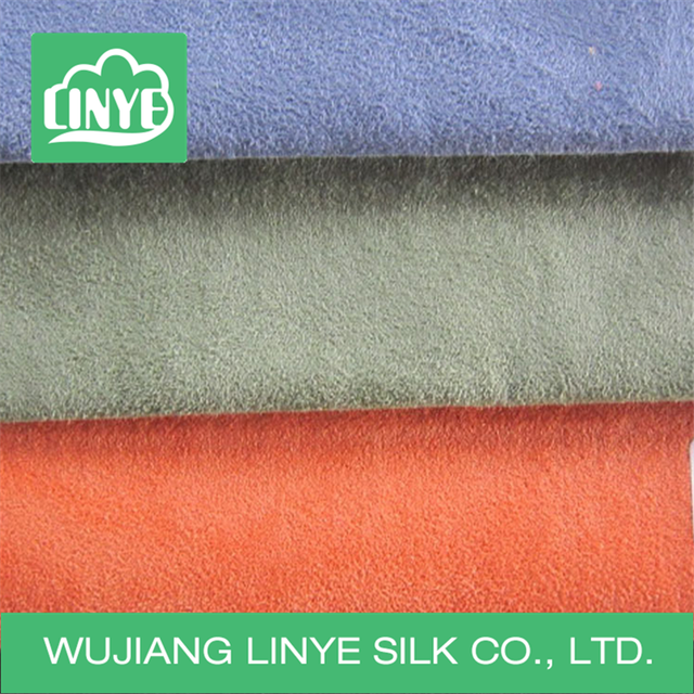Knitting Microfiber Synthetic Suede Fabric / Sofa Upholstery Fabric