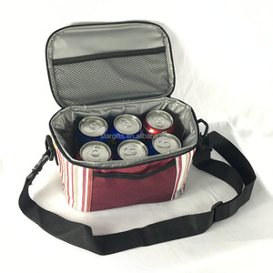 Wholesale 600D Polyester Custom Insulated 6 Bottle Wine Tote Cooler Bag With PEVA Lining