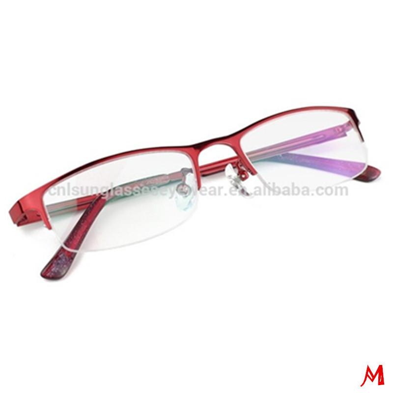 Red Half Rim Metal Latest Glasses Frames For Girls - Buy Latest ...
