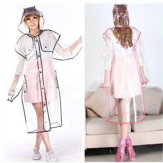 a957af9e3 Get Quotations · Eva Adult Transparent Plastic Raincoats Single-person  Rainwear Cute Womens Raincoats Tour Outdoor Rain Coat