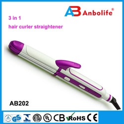 New Style Triple Hair Curler Roller, hair curling iron with usb cord