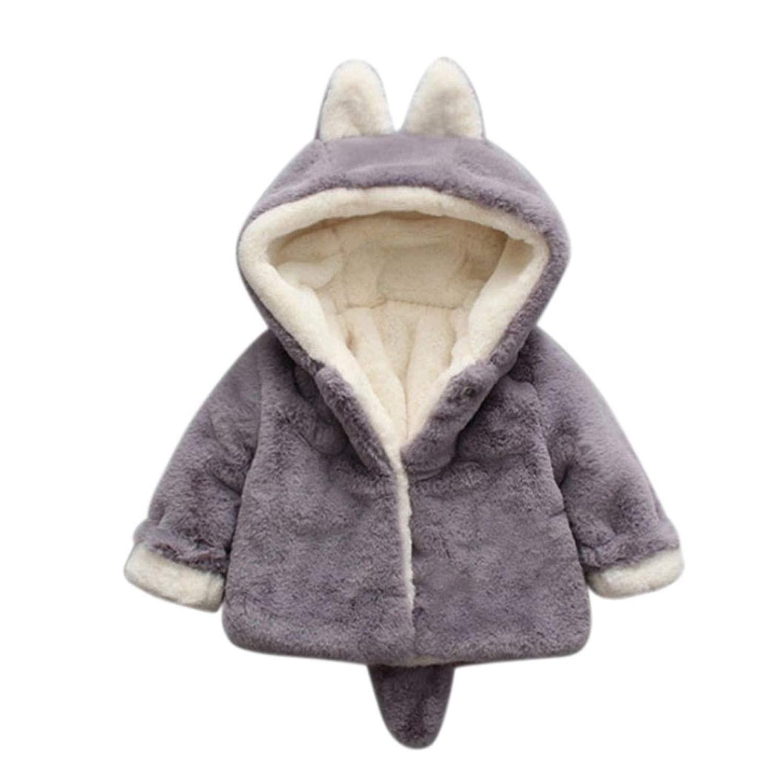 Genda 2Archer Baby Girl Faux Fur Winter Thick Warm Coat Cloak Jacket