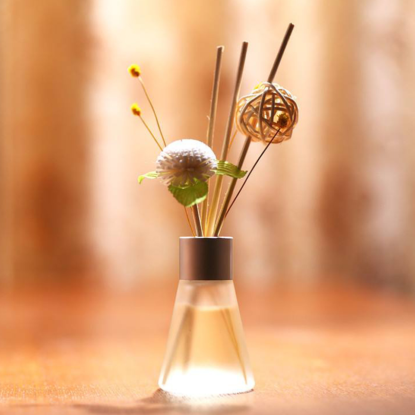 fragrance aroma decorative reed fiber scented oil diffuser flower wooden humidifier absorbent sticks with rattan sticks flower