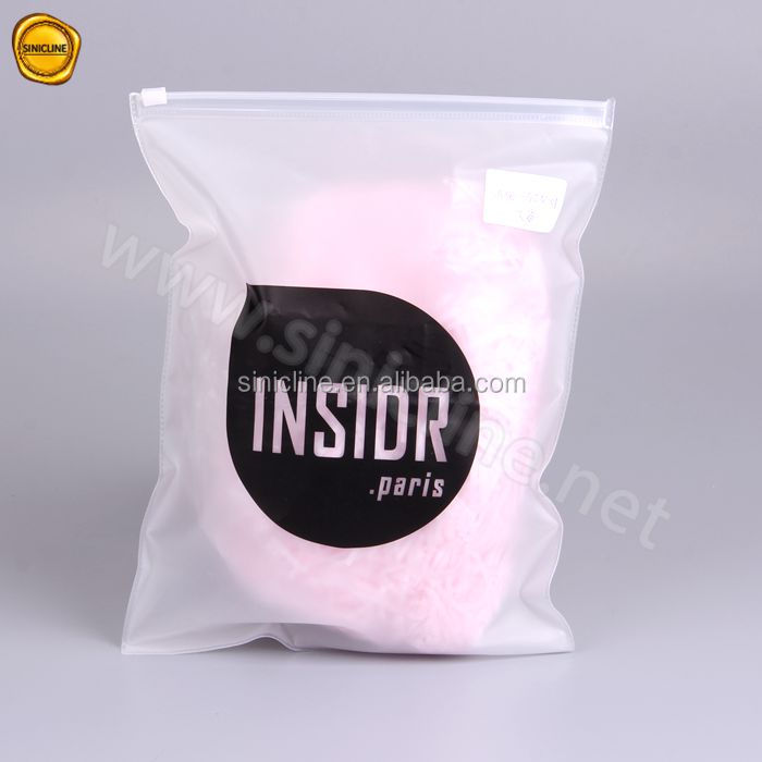 High quality frosted eva slide zip lock bag for underwear packaging