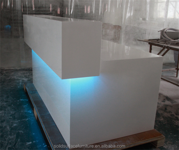 High Glossy White Modern Shop Counter Design Store Counter