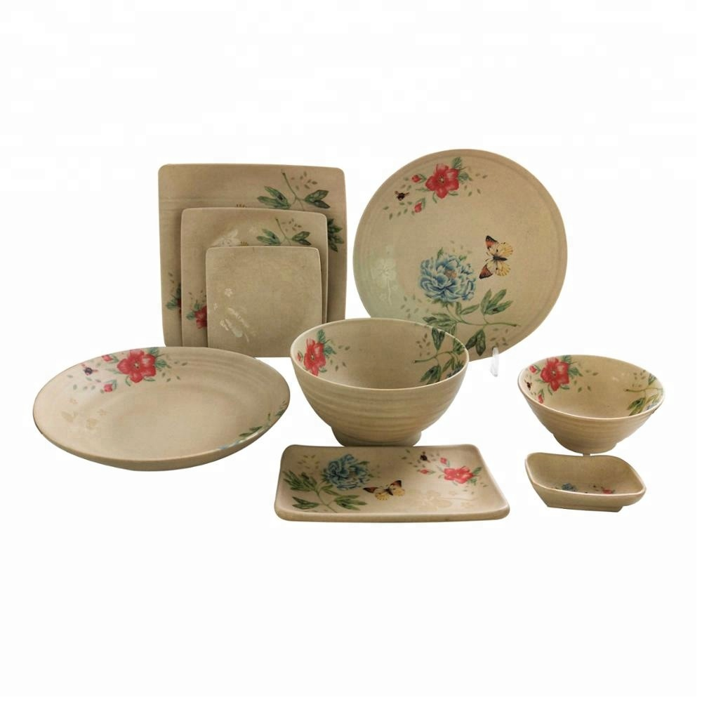Anese Style Bowl Plate Dish 9 Pcs High Quality Matt Melamine Dinner Set Whole