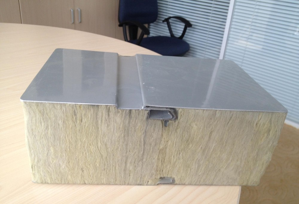 Sandwich Panels Types : Mineral wool insulated aluminum roof panels laminated