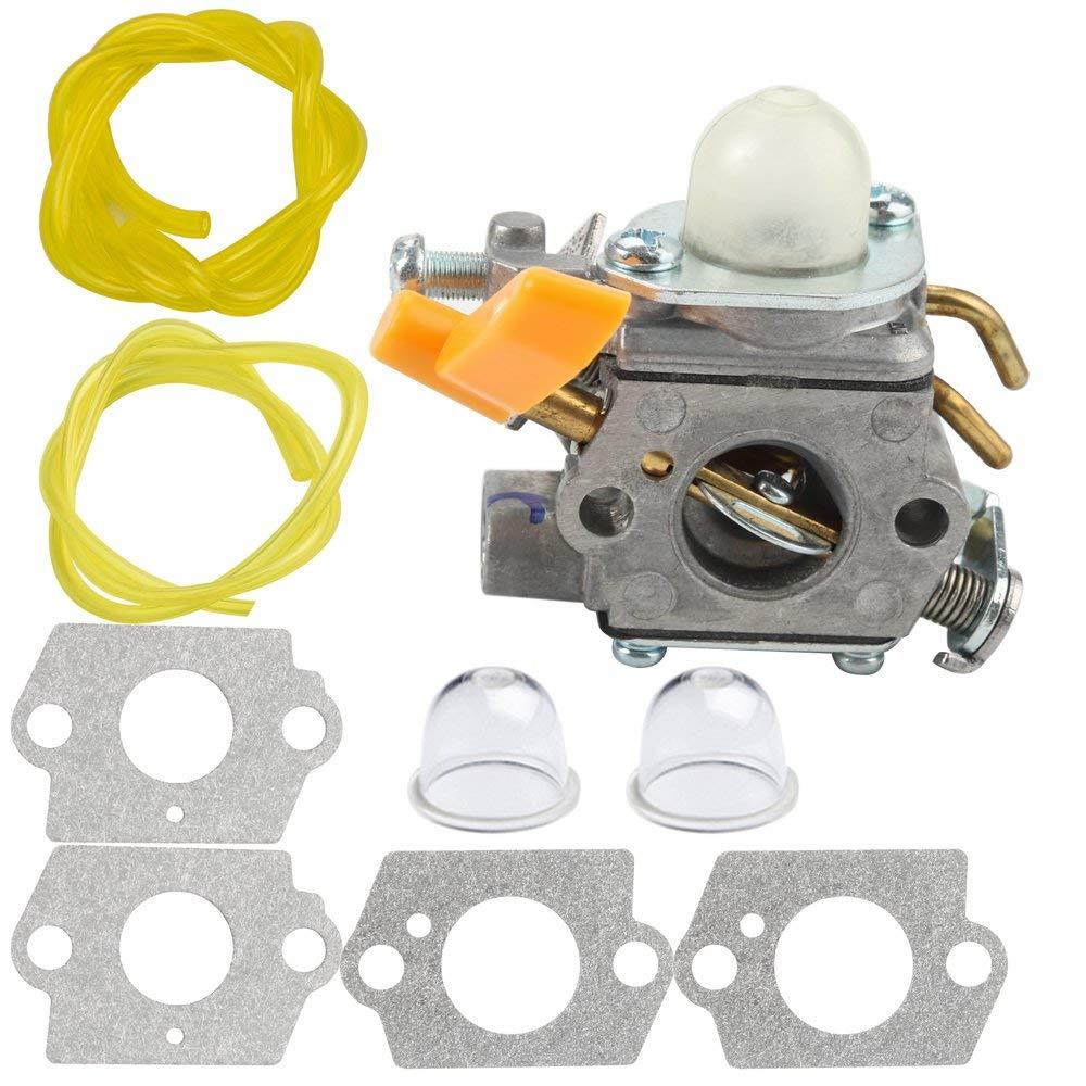Panari Carburetor with Gasket Fuel Line for Ryobi Homelite String Trimmer RY28100 RY28120 RY28121 RY28140 RY28141 RY28160 RY28161 UT33600 UT33650