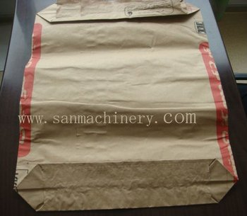 Automatic Kraft Paper Cement Bag Machine Sack Bottom ...