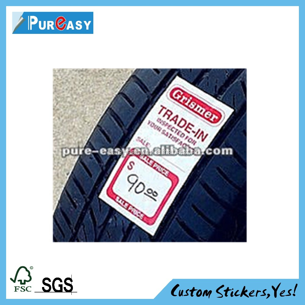 Accept Custom Order tyre size adhesive sticker