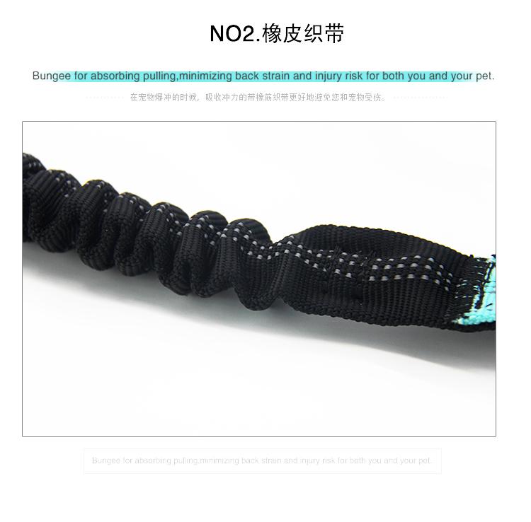 Wholesale Custom Nylon Reflective Bungee Hands Free Jogging Dog Leash With Waterproof Waist Bag