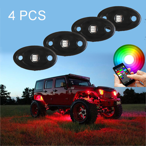 Wholesale shenzhen waterproof car bluetooth rgb offroad ATV SUV Trucks led rock lights