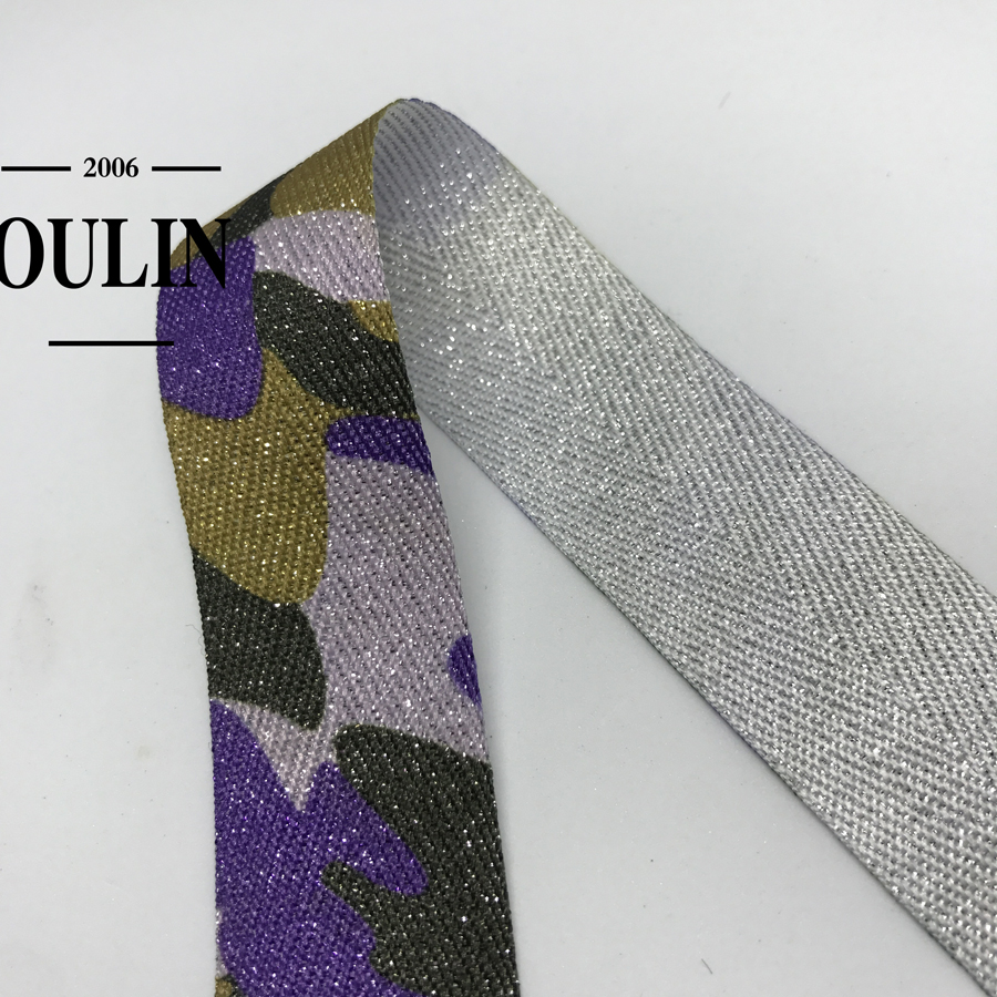 Oulin factory wholesale hot product leopard print tape type ribbon cotton material ribbon soft tape for garments