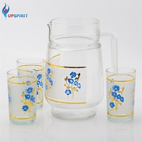 Custom Logo Water Glass Jar Pitcher With Decal