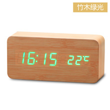 Wood Calendar Thermometer Clock/LED Digital creative Alarm Clock
