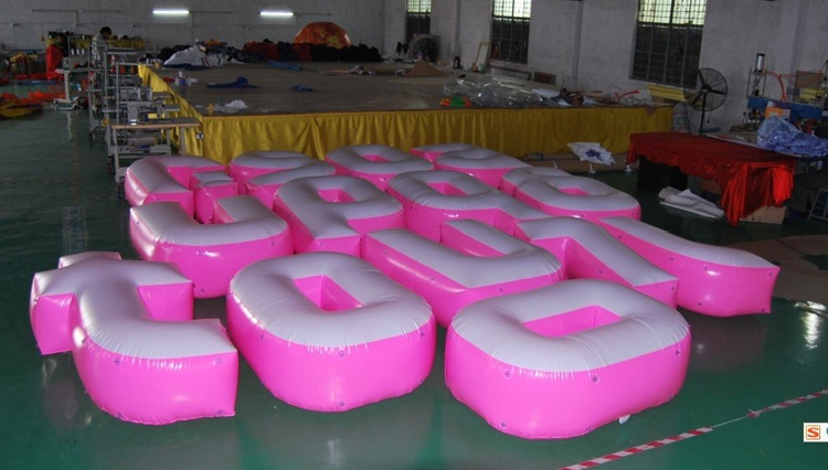 Manufacturer supply inflatable advertising swan for wholesales
