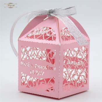 Difference Color Filigree Laser Cut Wedding Favour Box From Mery Crafts