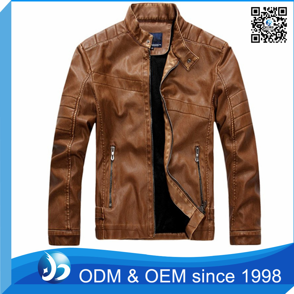 Hotsales Mens Suede Winter Jacket Brown Button Jacket