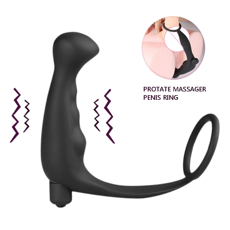 High Quality Silicone Male Massager Anal Vibrator Sex Toys for Men Erotic Toys Tail Anal Cock Ring Sex Products