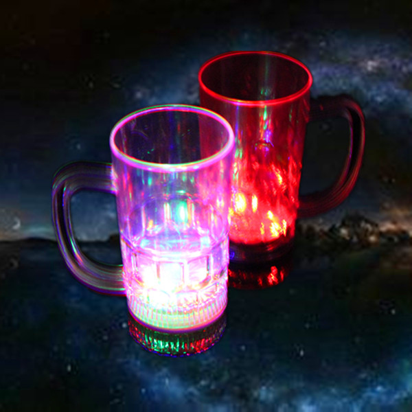 450ml LFGB manufacturer attractive led plastic cup with handle