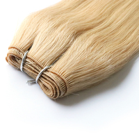 Exquisite hand tied hair weft blended hair extensions cheap real human hair