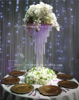 5 Tier Square Crystal Chandelier Centerpiece Giant 90cm Tall