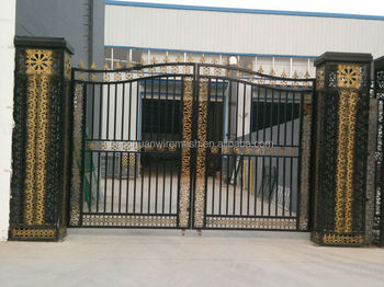 Galvanized beautifu and sliding l home using wrought iron gates with motor