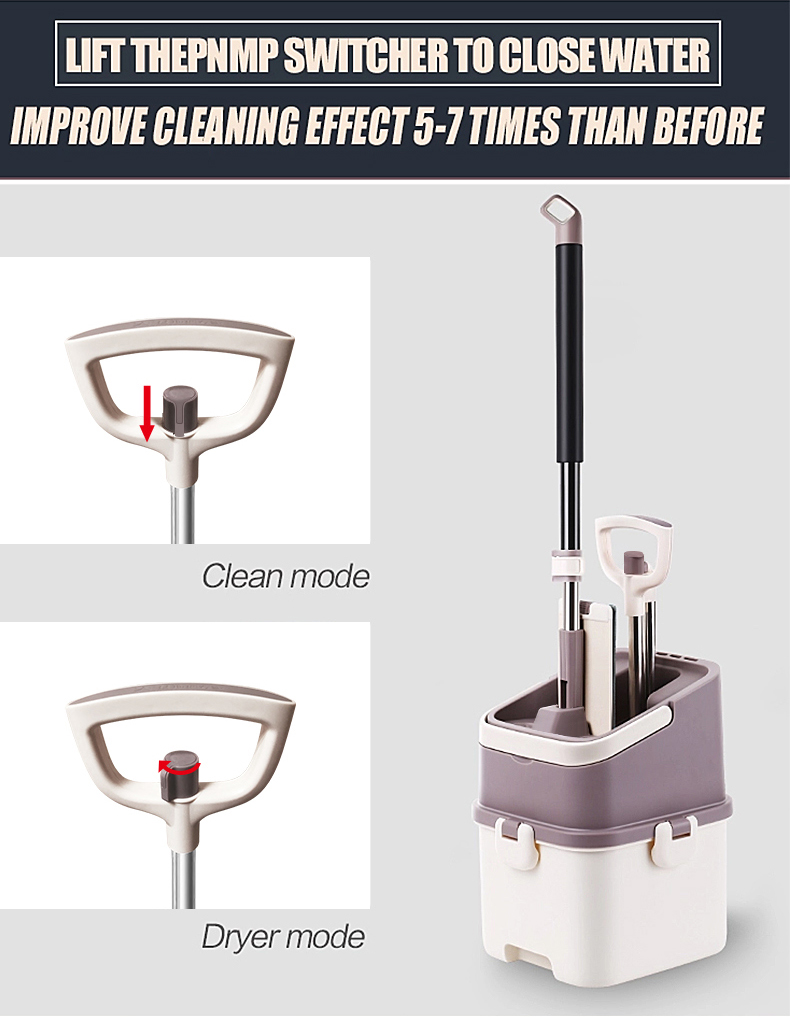 2017 Innovative TV Home Shopping Household Super Durable Efficient Easy Squeeze Mop Bucket for Cleaning