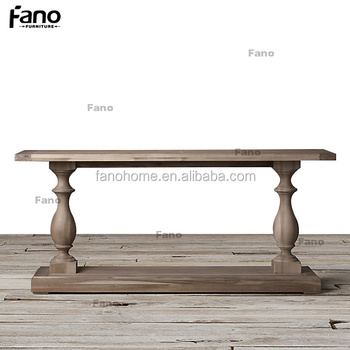 Classic French Provincial 2 Leg Wooden Console Tables