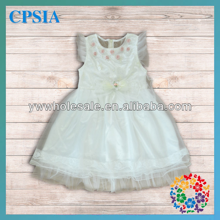 2014 Newest White Tulle Lace Baby Grils Long Dress Sleeveless Designs Customizable Dress